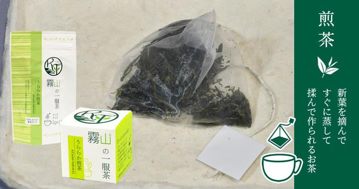 新葉を摘んですぐに蒸して揉んで作られるお茶、煎茶